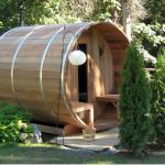 De sauna in de zomer