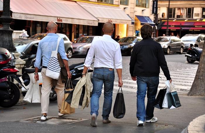 shoppende mannen