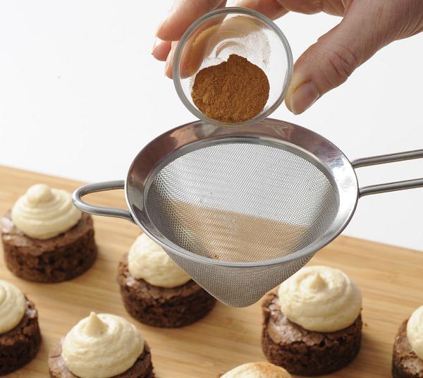 Recept Mini Espresso Brownies met Kahlua Botercrème