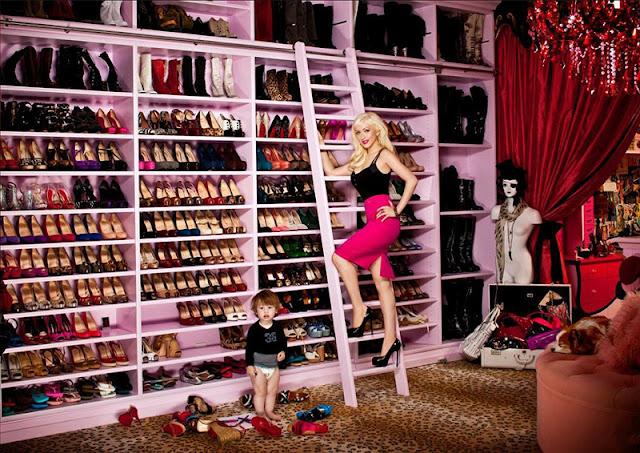 celebrity shoe closets
