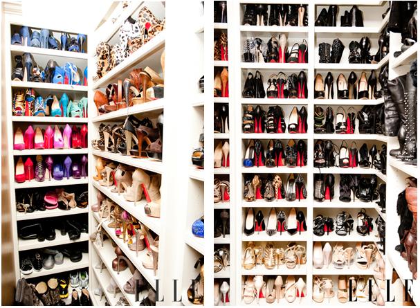 celebrty shoe closets