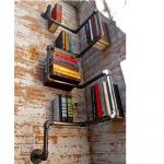 Boekenplank uit steigerbuis