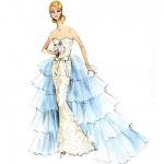 De Oscar de la Renta Bruids Barbie