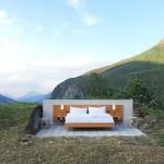 Slapen onder de sterren in het Null Stern hotel in Zwitserland