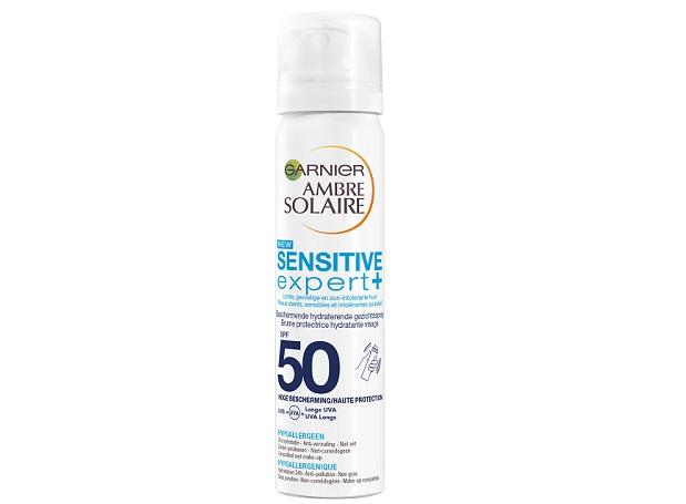 Garnier Ambre Solaire Sensitive + Beschermende Hydraterende Mist SPF 50
