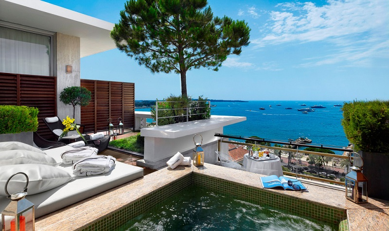 Penthouse Suite in Grand Hyatt Cannes, Martinez, Frankrijk