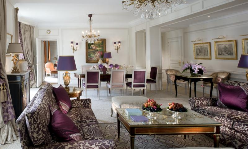 De Royal Suite in Hôtel Plaza Atheneée, Parijs, Frankrijk