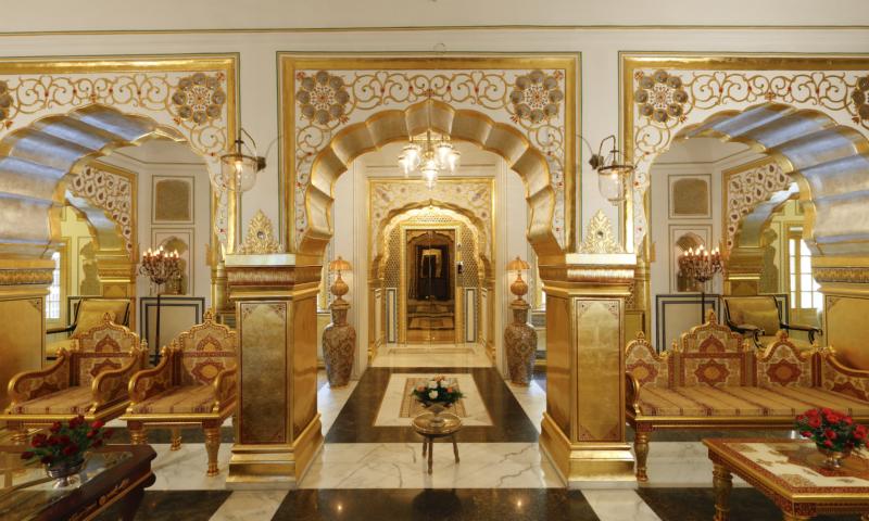 Maharajah Pavilion in Raj Palace, Jaipur, India