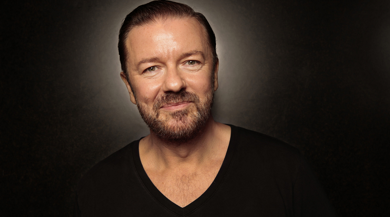 Ricky Gervais op 16 februari 2018 terug naar Nederland